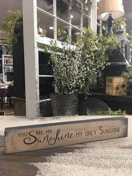 You Are My Sunshine Block Sign
