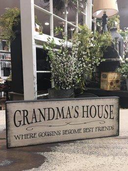 Nanas Farmhouse Nana's / Grandma's House Block Sign