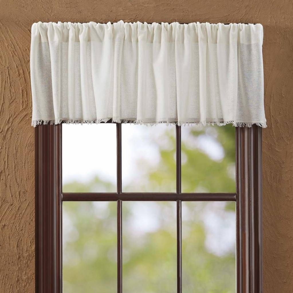 VHC Brands Tobacco Cloth Valance