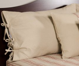 Home Collections By Raghu Grain Sack Solid Oat Pillow Sham