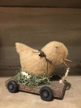 Nana's Farmhouse Chic On Cart Pull Toy - Small