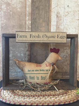 Farm Fresh Eggs Box with Rooster