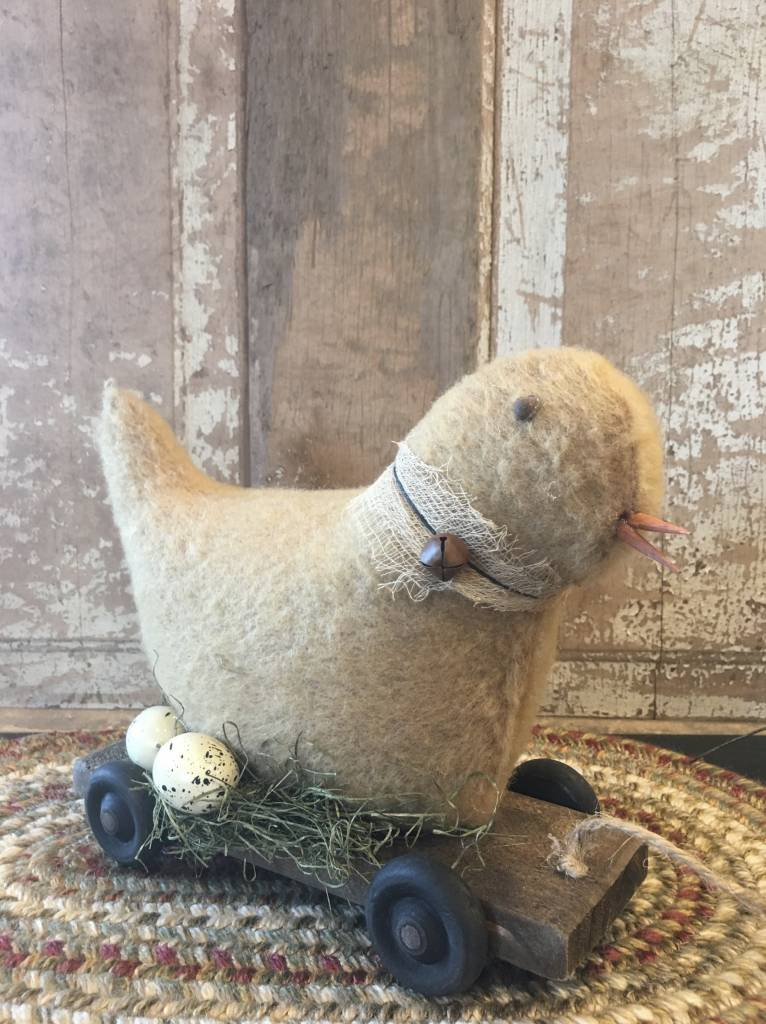 Nana's Farmhouse Wooden Pull Toy Chic On Cart