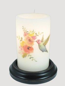 C R Designs Hummingbird Purple Candle Sleeve