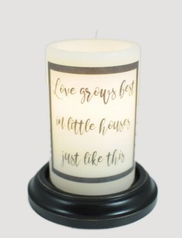 C R Designs Love Grows Best Candle Sleeve