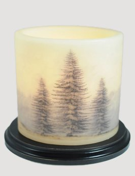 C R Designs Three Christmas Tree Candle Sleeve - Oval