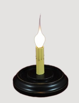 C R Designs Black Round Candle Sleeve Base
