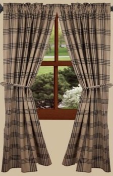 Home Collections By Raghu Chesterfield Black Check Panels