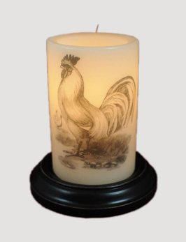 C R Designs Vintage-Rooster/Antique Vanilla Candle Sleeve