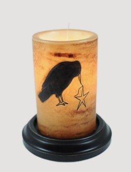 C R Designs Primitive Crow Brown Sugar Candle Sleeve
