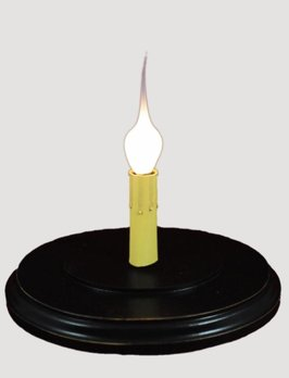 C R Designs Candle Sleeve Base - Oval Black