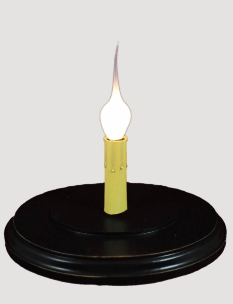 C R Designs Black Oval Candle Sleeve Base