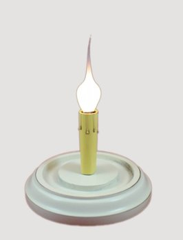 C R Designs Country White Round Candle Sleeve Base