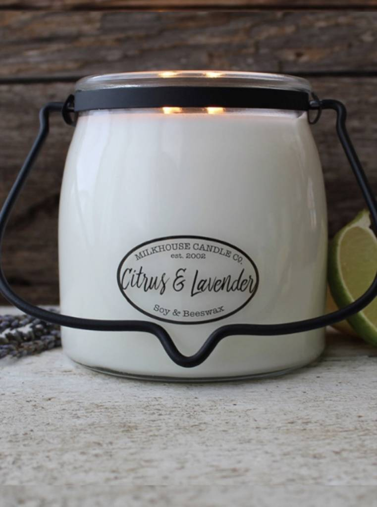 Milkhouse Candles Milkhouse Candle Citrus & Lavender 16oz Butter Jar
