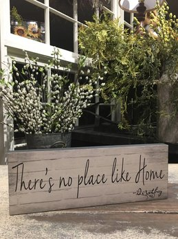 Nanas Farmhouse There's No Place Like Home - Dorothy Block Sign