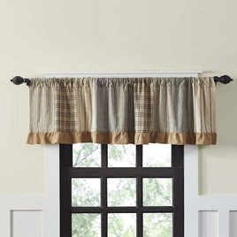 VHC Brands Sawyer Mill Charcoal Patchwork Valance