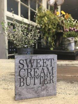 Sweet Cream Butter Block Sign