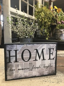 Home Block Sign