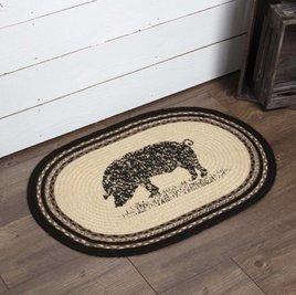 VHC Brands Sawyer Mill Pig Jute Rug