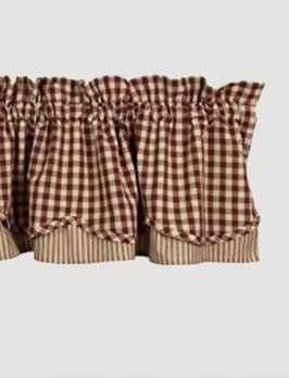 Home Collections By Raghu Heritage House Check Red Fairfield Valance
