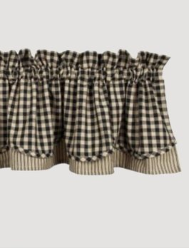 Home Collections By Raghu Heritage House Check Black Fairfield Valance