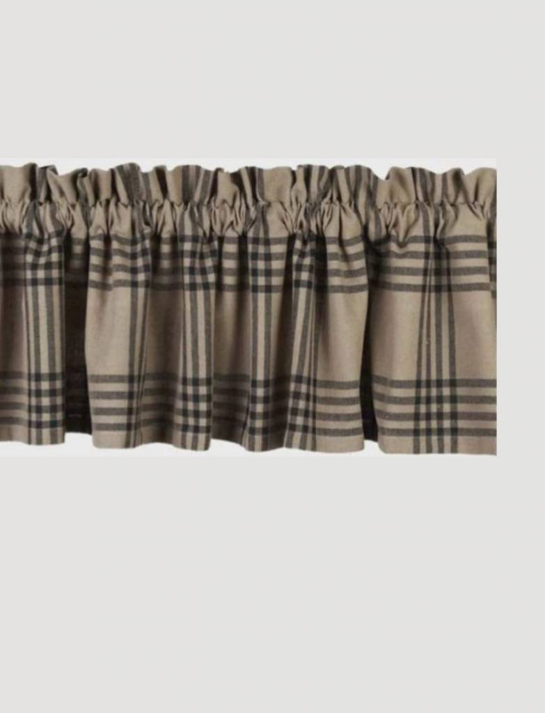 Home Collections By Raghu Chesterfield Check Black Valance