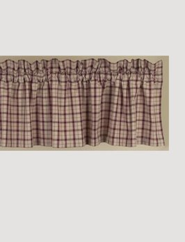 Home Collections By Raghu Salem Check Valance Barn Red