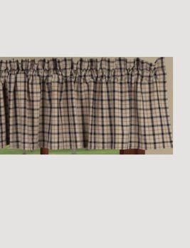 Home Collections By Raghu Salem Check Black Valance
