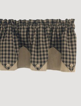 Park Designs Sturbridge Point Valance Black
