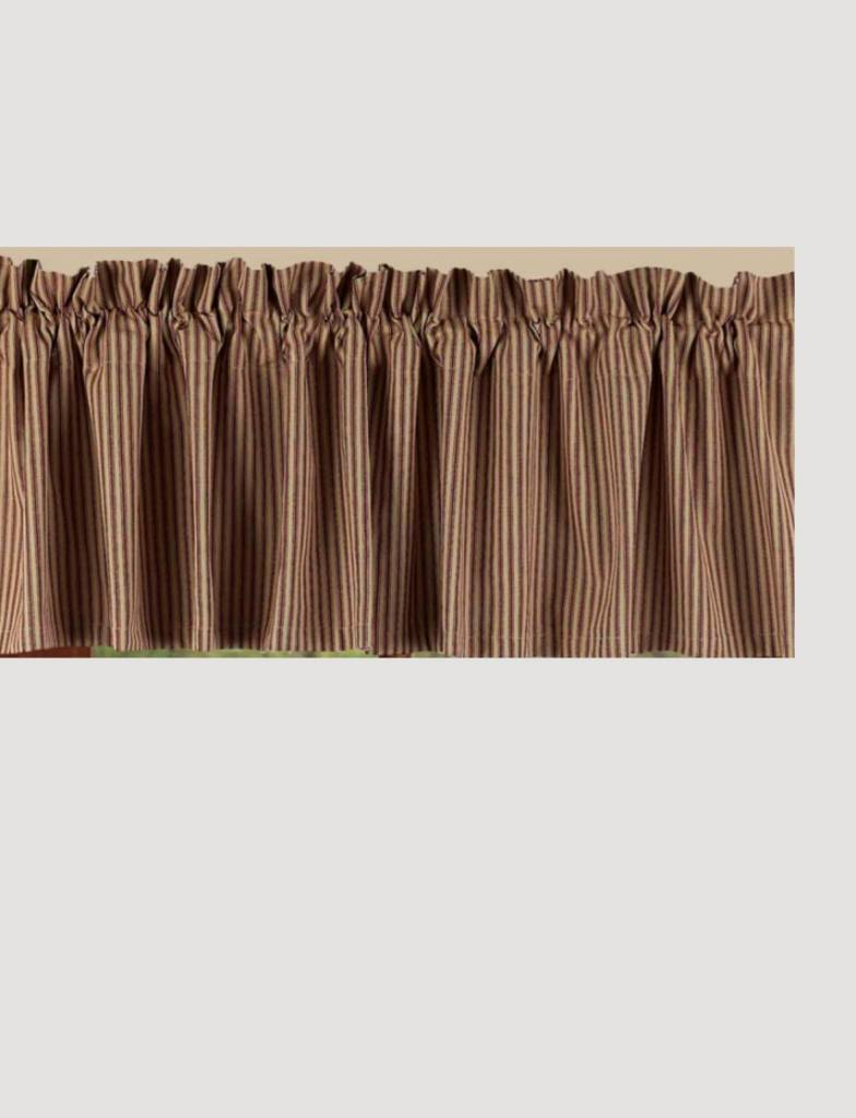 ordinary Red And Grey Valance Part - 15: Home Collections By Raghu York Ticking Barn Red Valance ...