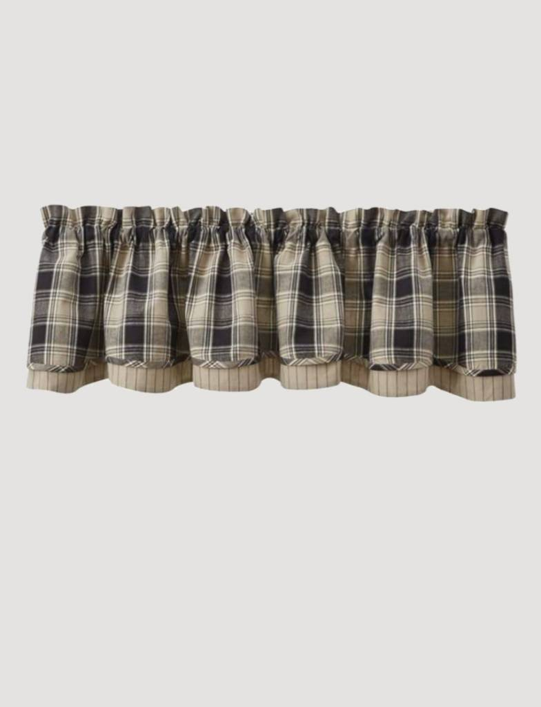 """Park Designs Soapstone Lined Layered Valance 76"""" x 16"""""""