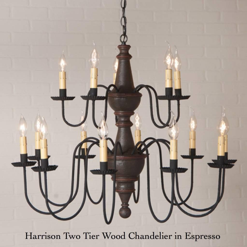 Irvin's Tinware Harrison Two Tier Wood Chandelier