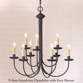 Irvin's Tinware 9-Arm Grandview Chandelier