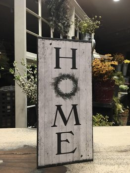 Home with Wreath Sign