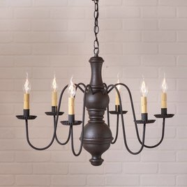 Irvin's Tinware Chesterfield Chandelier Large
