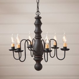 Irvin's Tinware Manassas Wood Chandelier in Hartford