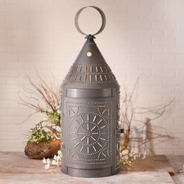 Irvin's Tinware 36-Inch Tinner's Lantern with Chisel in Blackened Tin
