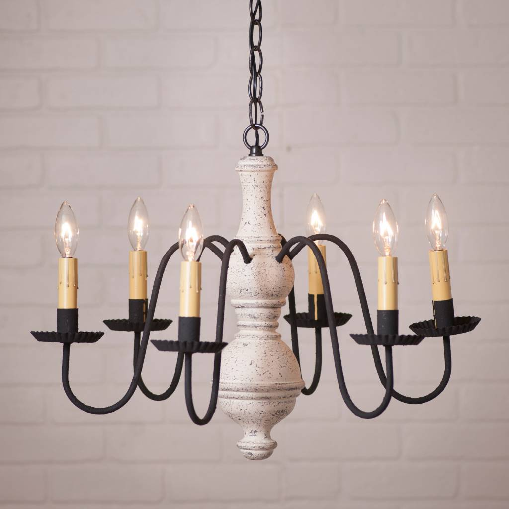 Irvin's Tinware Chesterfield Chandelier in Americana Medium