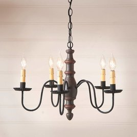 Irvin's Tinware Country Inn Wood Chandelier
