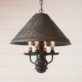Irvin's Tinware Homespun Shade Light