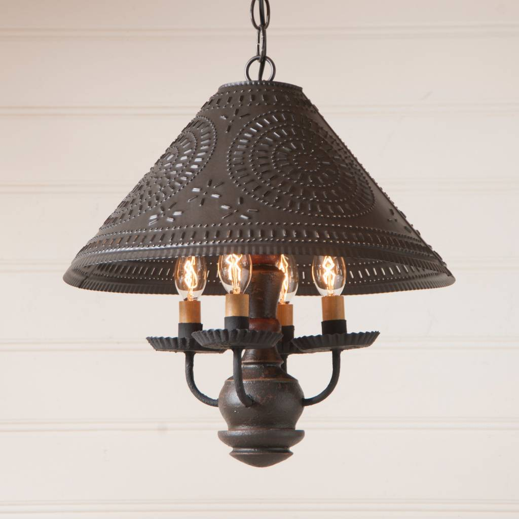 Irvin's Tinware Homespun Shade Light