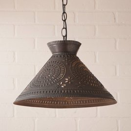Irvin's Tinware Roosevelt Shade Light with Chisel