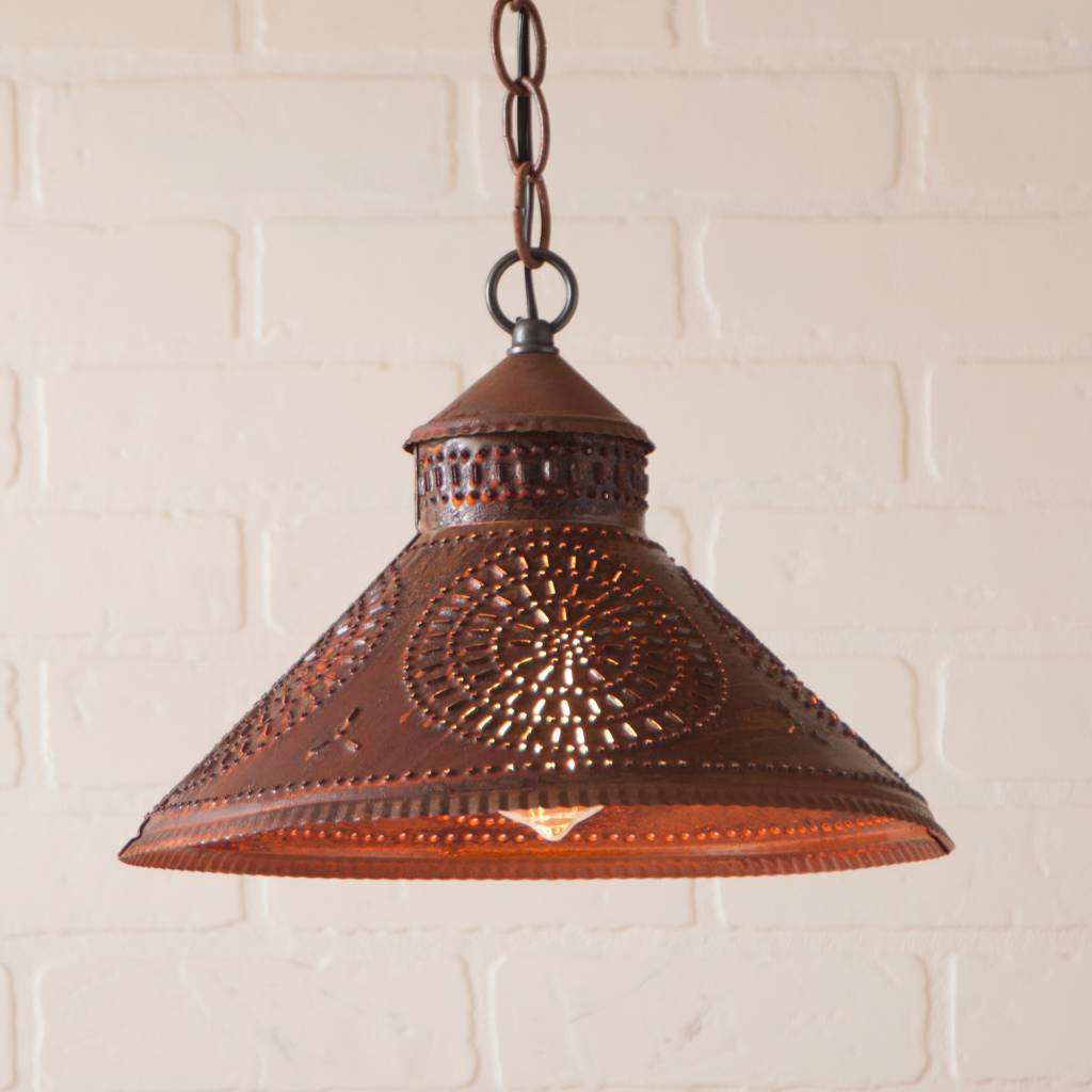 Irvin's Tinware Stockbridge Shade Light with Chisel