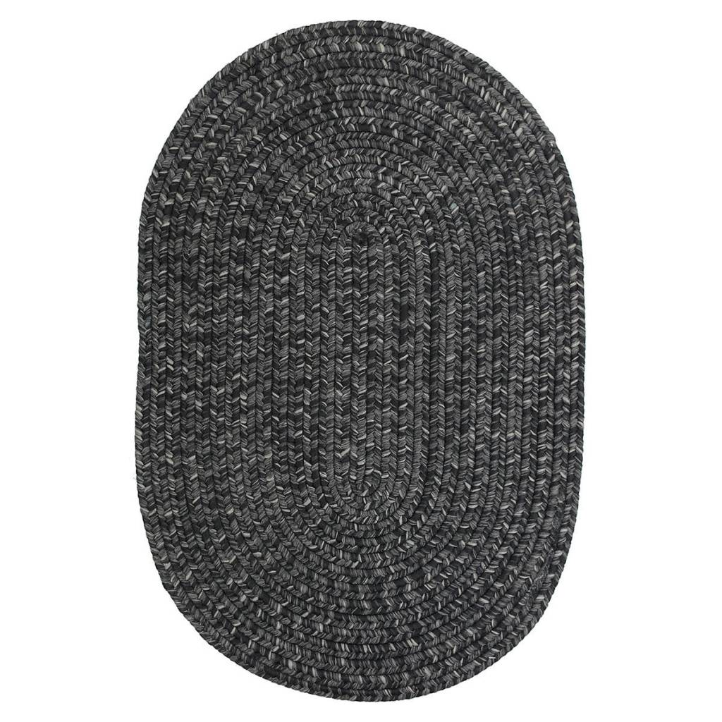 Homespice Decor Black Ultra Durable Braided Rugs