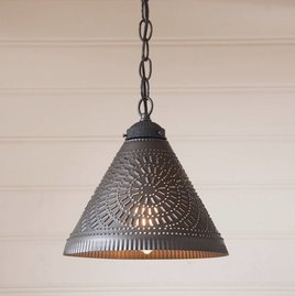 Irvin's Tinware Wellington Shade Light in Kettle Black