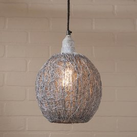 Irvin's Tinware Nesting Wire Pendant in Weathered Zinc