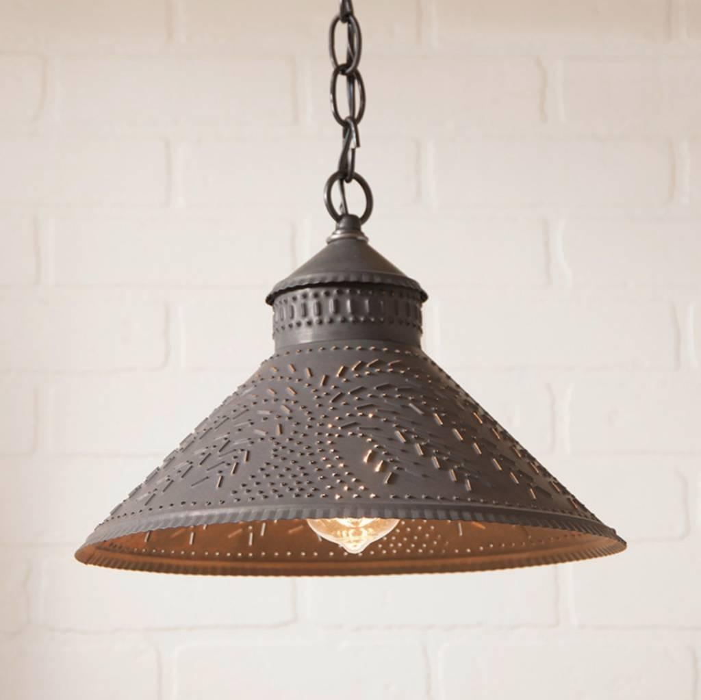 Irvin's Tinware Stockbridge Shade Light with Willow in Kettle Black