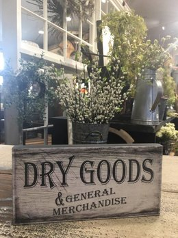 Dry Goods Block Sign
