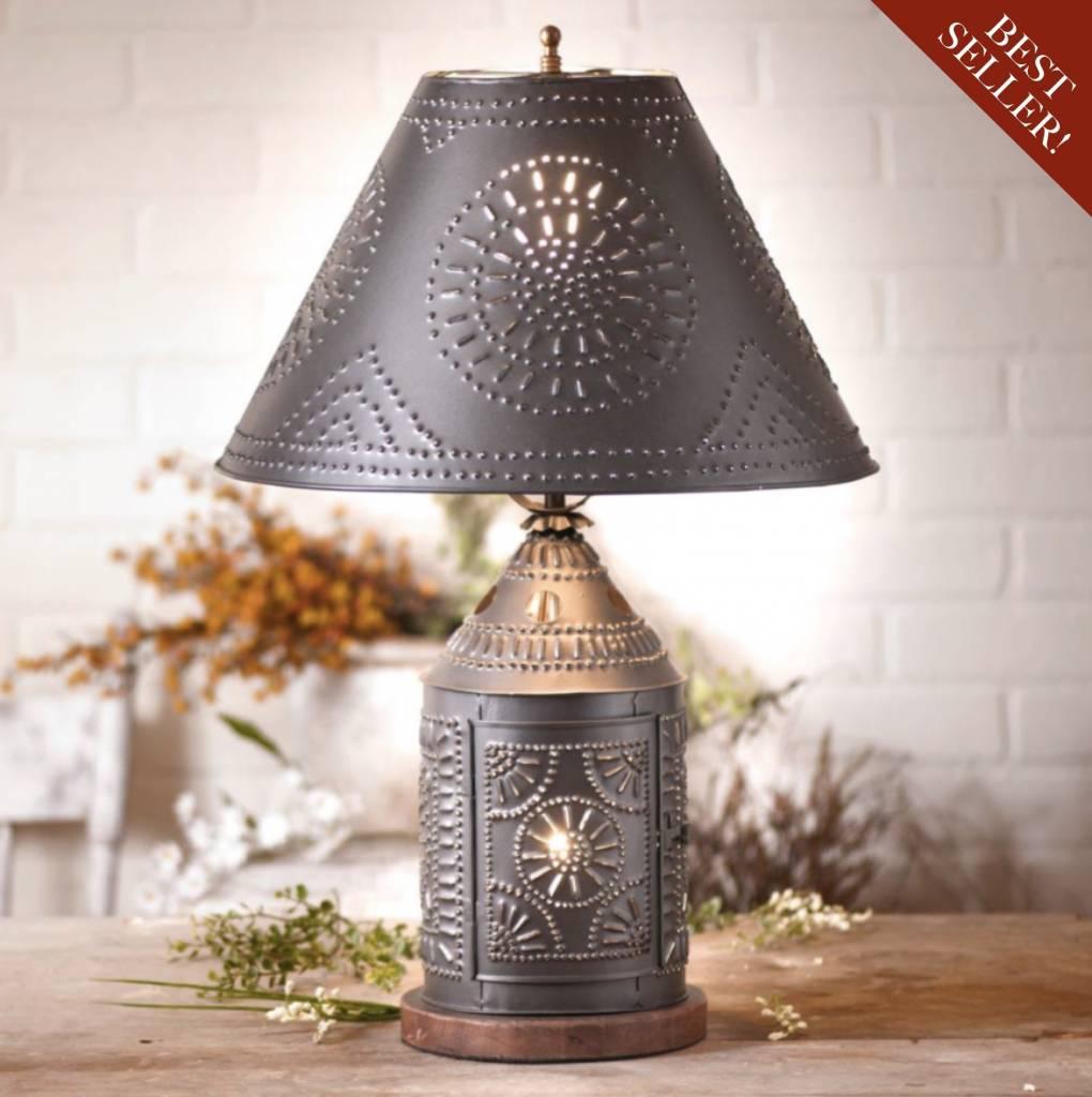Irvin's Tinware Tinner's Revere Lamp with Shade