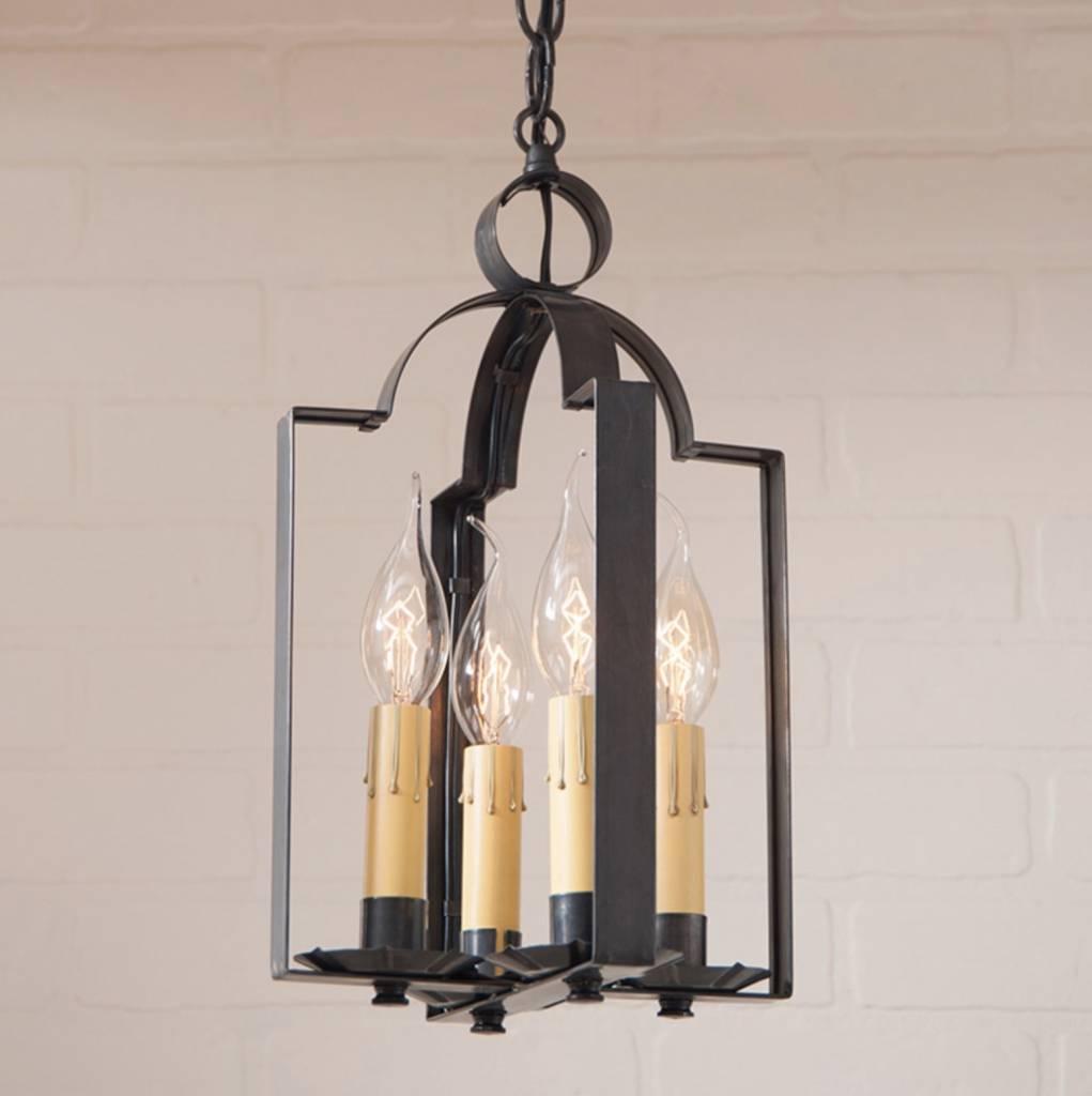 Irvin's Tinware Four Light Saddle Light in Kettle Black